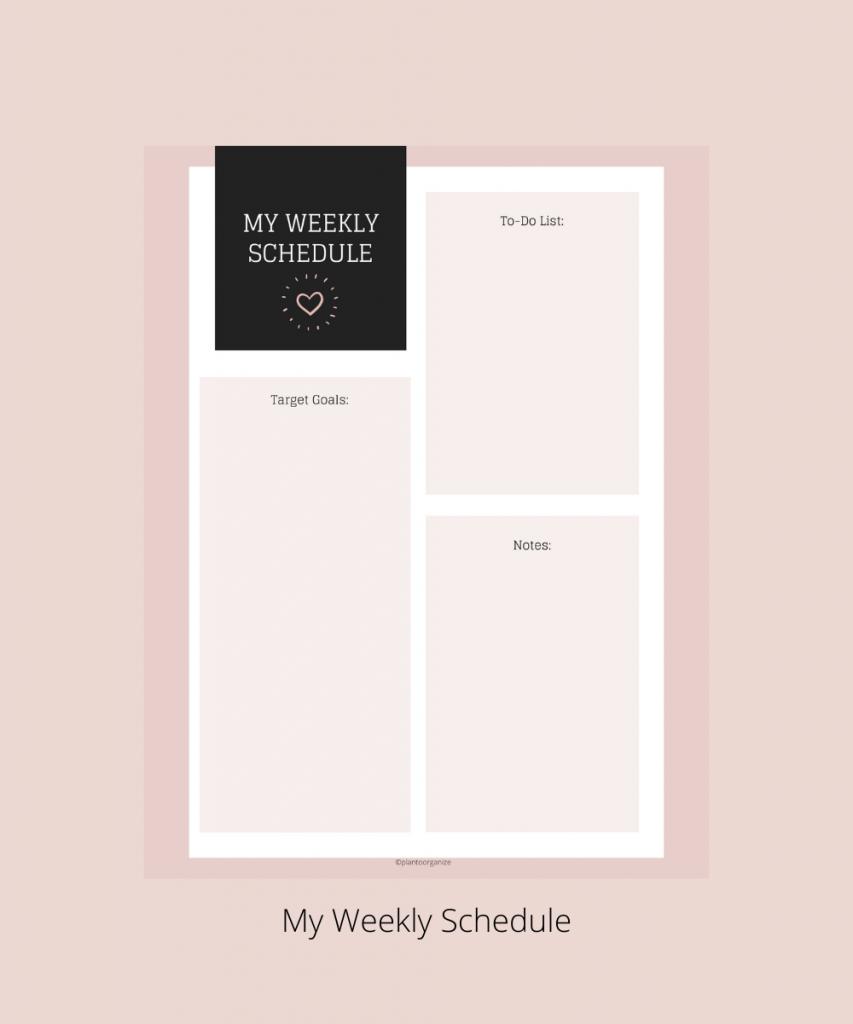 My-weekly-schedule