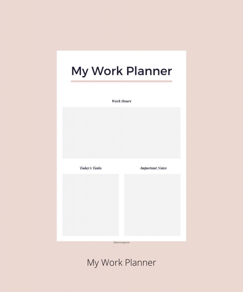 My-work-planner