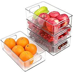 Clear-organizing-bins