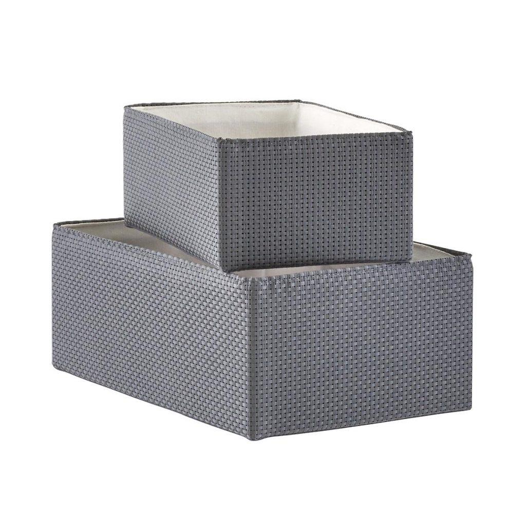 Woven-storage-bin-organizers