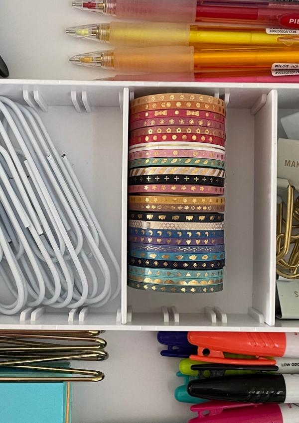 Easy Desk Drawer Organization Idea for a Home Office
